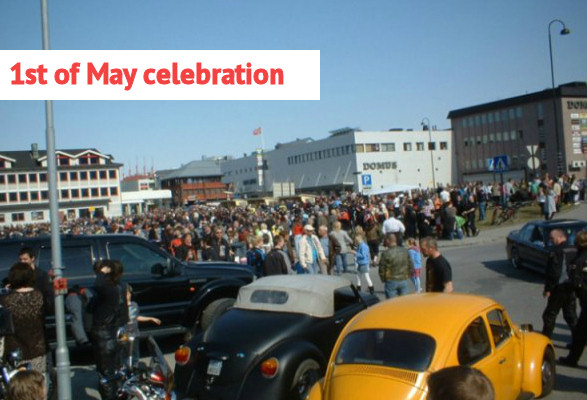 06 mo i rana norway 1st May celebration arbeidernes dag labour day