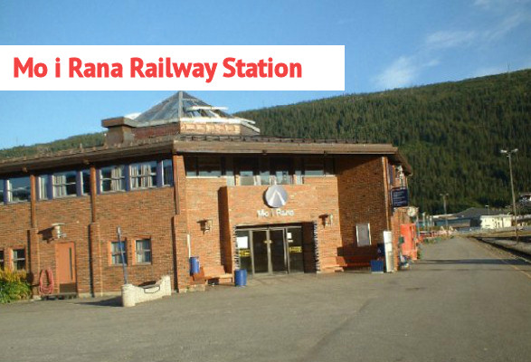 13 mo i rana norway railway station jernbanestasjon